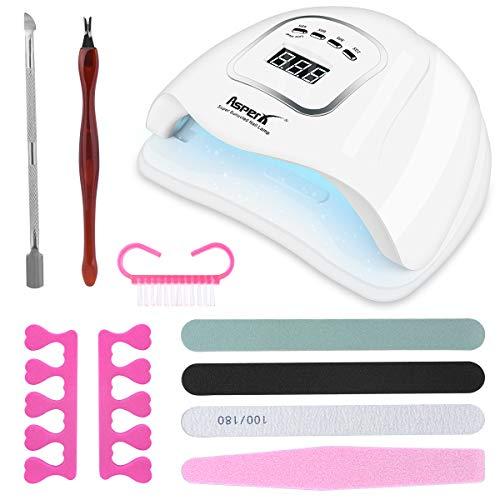 Lampada UV LED Unghie, AsperX 150W Nail Lamp Kit Portatile con, Fornetto Unghie Professionale...