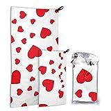 N\A Amour Forme Coeur Symbole 2 Pack Microfibre Surf Serviette De Plage Randonnée Serviette De...