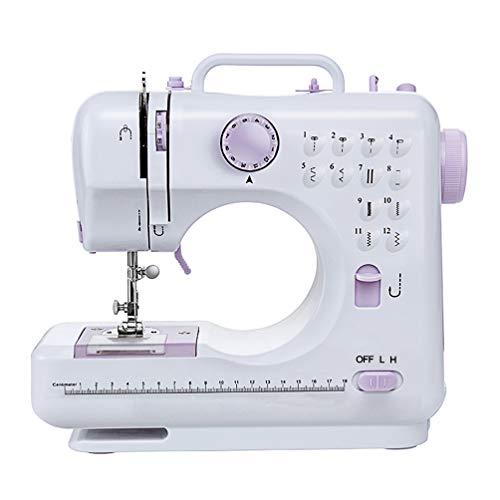 Signstek - Macchina da cucire con 12 programmi di cucito, regolabile, velocit del piedino...
