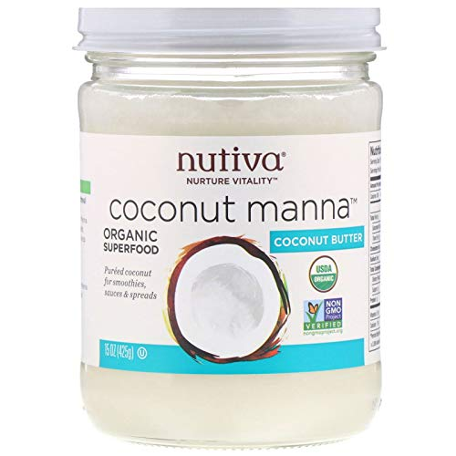 Nutiva, Organic, (3 Pack) Coconut Manna, Pureed Coconut, 15 oz (425 g)