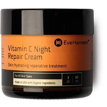 Eve Hansen Vitamin C Night Cream - Anti Aging Face Cream, Neck Cream, Vitamin C Cream, Vitamin E Cream - Natural Face Moisturizer for Acne Scar Removal, Dark Circles and Wrinkle Filler Skin Cream 2 oz