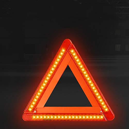 BETT Warndreieck mit LED Warnleuchte Rotfür KFZ...