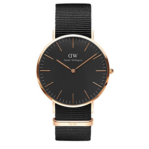 Daniel Wellington Classic Cornwall, Schwarz/Roségold Uhr, 40mm, NATO, für Herren