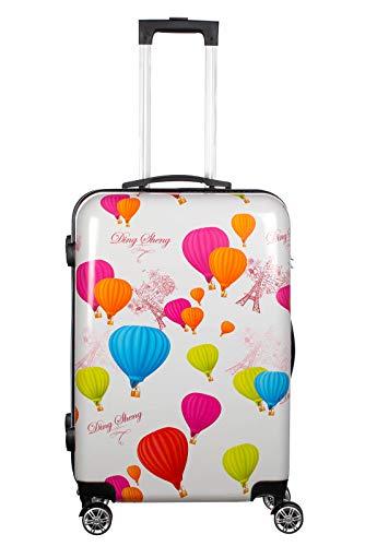 Birendy Reisekoffer Polycarbonat Hartschalen Hardcase Trolley mit Zahlenschloss Koffer Kofferset 4 Rollen einfacher Transport (90-Ballons Paris, Koffer XL 65x45cm)