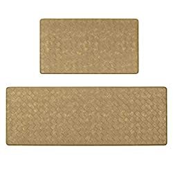 Pauwer Anti Fatigue Kitchen Rugs Set 2