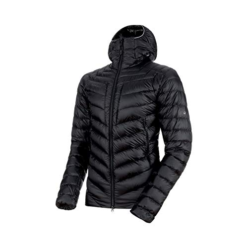 Mammut Herren Broad Peak Hooded Daunen-Jacke mit Kapuze, Black-Phantom, M