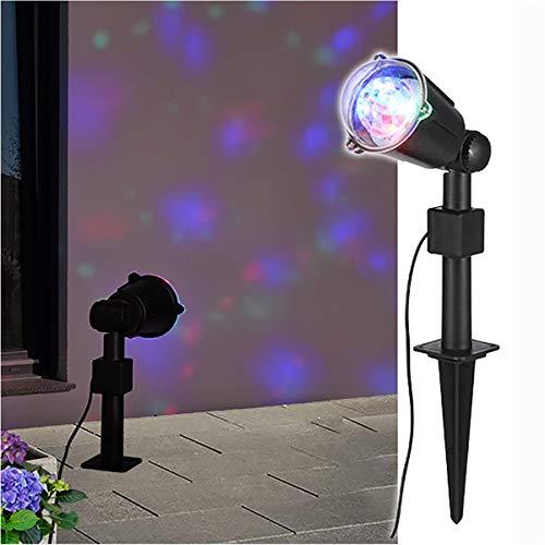 LED Party Strahler rotierend rot grün blau 220V Lichteffekte Effektstrahler