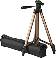 Adjustable-height tripod made of lightweight aluminum, Recommended max load weight is 2 Kg for optimal performance Not compatible with mobile phones. For cameras with bigger lenses kindly use the 60-inch tripod. 3-way head allows for tilt and swivel ...