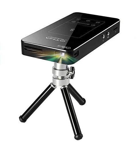 OTHA Mini Projecteur Portable, Android 7.1 Portable DLP Projecteur avec Touchpad Correction de la Distorsion Trapézoïdale de Voiture HDMI Projecteurs de Cinéma Maison