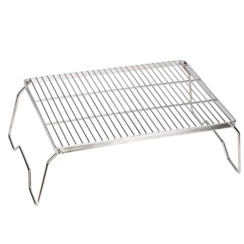 ZORMY Folding Campfire Grill,304 Stainless Steel Grate,Heavy Duty...