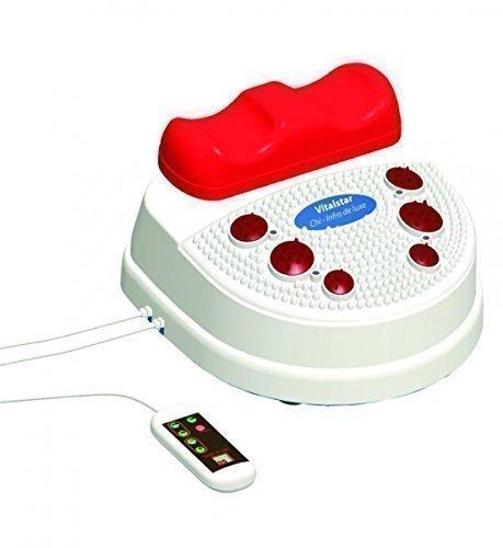 chi-enterprise Vitalstar Infrarot Chi-Massage-Gerät I entspannende 10 Stufen I vitalisierende Chi-Maschine mit Twister I Infrarot-Fuß-Reflex-Zonen-Massage I Chi-Maschine inkl. Timer u. Fernbedienung