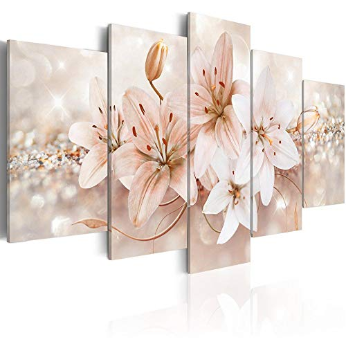 Lily Flower Canvas Wall Art Print Abstract Painting Picture Decor...