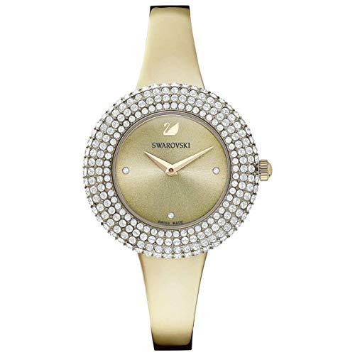 Swarovski Damen-Uhren Analog Quarz One Size Gold Metall 32010425