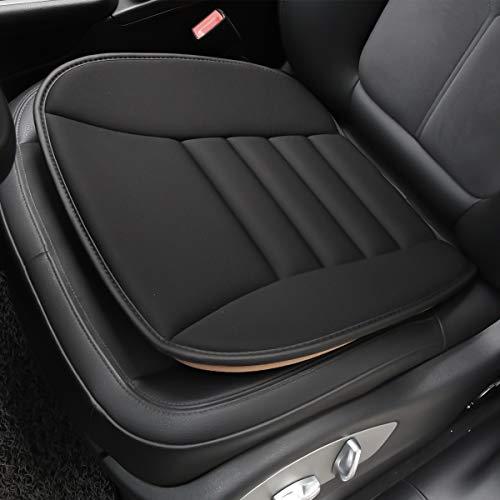 Aukee Car Seat Cushion Office Chair Mat Memory Foam Home Use Pad Black 1PC