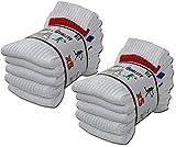 Top sportif Lot de 10 paires de chaussettes de sport blanche taille 43-46
