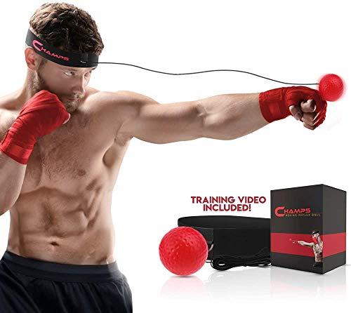 Champs MMA Boxing Reflex Ball - Attrezzatura da Boxe velocit di Combattimento, Boxe Gear Punzonatura Grande per velocit di Reazione (avanzato)