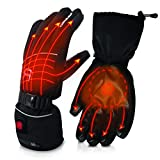 AKASO Heated Gloves for Men Women, Electric Heated Ski Gloves with 3 Heating Modes, Thermal...