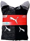 PUMA Men's Crew Socks Moisture Control Size 6-12, Black, 8 Pairs