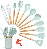 Songway 12 PCS Kit d'Ustensiles de Cuisine en Silicone et Bois...