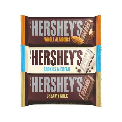 Hershey's Creamy Milk, Whole Almonds & Cookies n Creme Chocolate Bar, 100g (Pack Of 3)