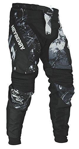 HEYBERRY Motocross Enduro Quad Hose schwarz weiß Gr. XL