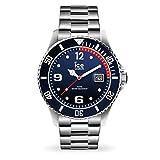 Ice-Watch - Ice Steel Marine Silver - Montre Bleue pour Homme avec Bracelet en...