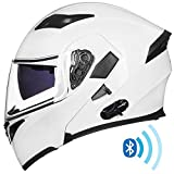 ILM Bluetooth Motorcycle Helmet Modular Flip up Full Face Dual Visor Mp3 Intercom FM Radio DOT...