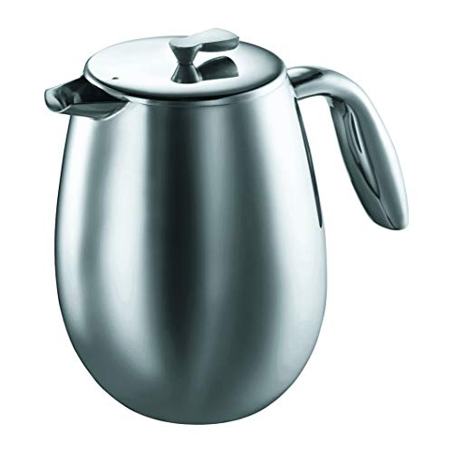 Bodum COLUMBIA Coffee Maker, Thermal French Press Coffee Maker, Stainless Steel, 51 Ounce (12 Cup)