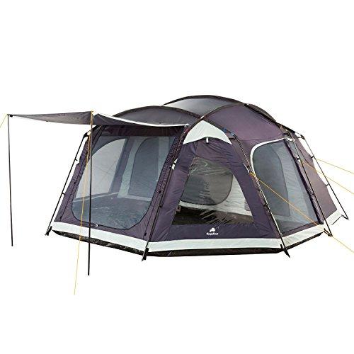 CampFeuer Familienzelt Femeli Zelt für 8 Personen | Schlafkabine, stahlblau, 5000 mm Wassersäule, Campingzelt