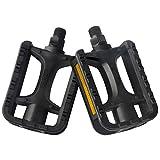 Bicycle Pedals - Mountain Bike Pedals - Road Bike Pedals - 9/16 Inch Universal Pedals - Flat Platform Pedals - Lightweight Bike Pedals Nylon Fiber Anti-skid Pedals - Bike Accessories for BMX/MTB Bike