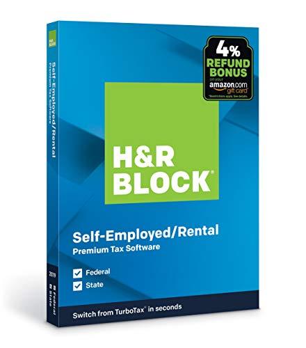 H&R Block Tax Software Premium 2019 with 4% Refund Bonus Offer [PC/Mac Disc]