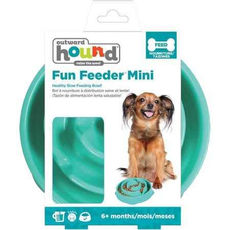 Outward Hound Fun Feeder Mini Drop Teal