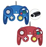 Gamecube Controller, Wired Gamepad for Nintendo Wii Console (Blue and Red)
