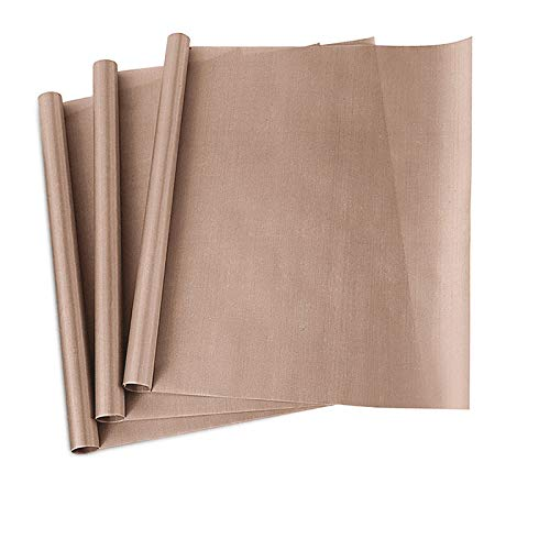 "3 Pack PTFE Teflon Sheet for Heat Press Transfer Sheet Non Stick 16 x 20"" Heat Transfer Paper Reusable Heat Resistant Craft Mat"