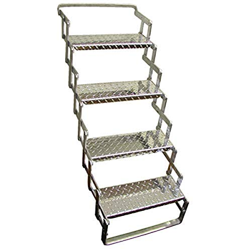 C. R. Brophy AS04 Aluminum Scissor Steps - 4 Step, 31' - 39'...