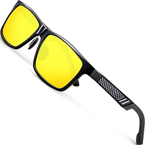 ATTCL Men's Polarized Night Time Driving Glasses Al-Mg Metal Frame 6560 Yeshi