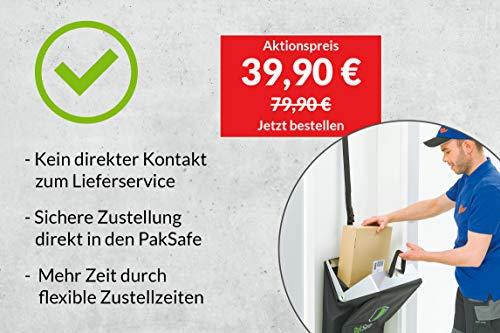 PakSafe Paketbriefkasten inkl. Versicherung, für zuhause mit Schließfunktion, Paketbox für alle Postdienste - 2