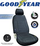 "Goodyear GY1247 \ Water Resistant Car Seat Cover \ 100% Pure Neoprene Fabric for Maximum Protection \ Fits Most Vehicles \ Headrest Cover 10""H x 11""W \ Seat 46""H x 18""W \ Side Airbag Compatible"