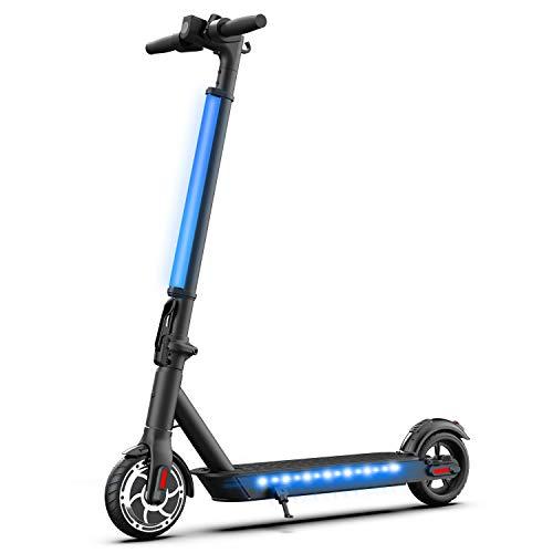 Hiboy Patinete Eléctrico S2 Lite - Neumáticos sólidos de 6.5' - hasta 16 KM de largo alcance y 21 KM/H scooter portátil plegable para niños adultos con doble Sistema de frenado