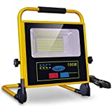 100W Projecteur LED Rechargeable, bapro Projecteur hantier, IP65 étanche...