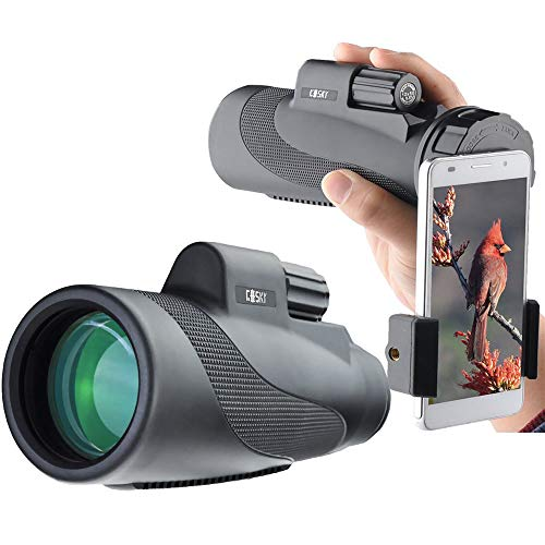 Gosky Titan 12X50 High Power Prism Monocular and Quick Smartphone...