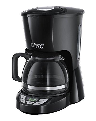 Russell Hobbs 22620-56 Macchina per Il caffè, 1000 W, 10 Cups, Acciaio Inossidabile, Nero