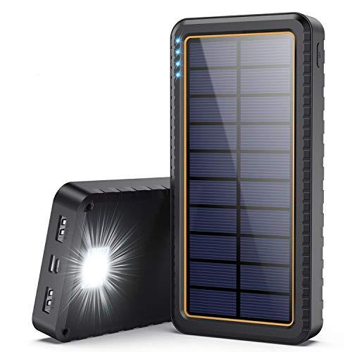 Yacikos Powerbank Solare,26800mAh Caricabatterie...