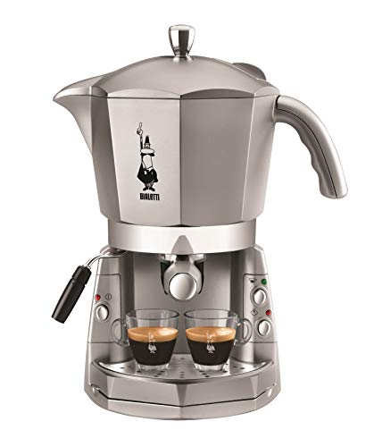 Bialetti Mokona Trio - Cafetera (Independiente, Espresso machine, Coffee capsule, Coffee pod, De café molido, Café expreso, Café, Plata, Botones)