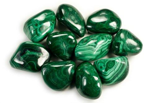Hypnotic Gems Materials: 1/4 lb Bulk Tumbled Malachite...