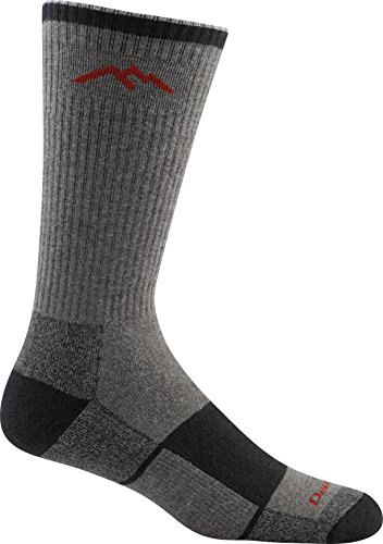 Darn Tough Coolmax Boot Full Cushion Sock - Men's Gray/Black Large