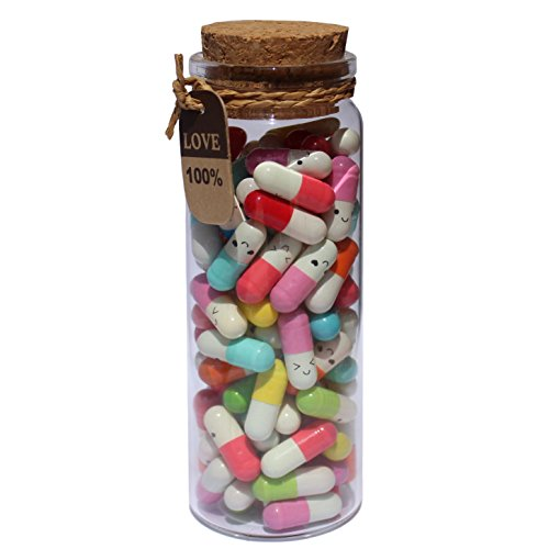 INFMETRY Capsule Letters Message in a Bottle (Mixed Color...