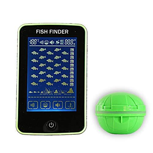 CARACHOME Fishfinder Wireless, 500M / 1640Ft Ecoscandagli Allarme Ecoscandaglio da Pesca Portatile Ecoscandaglio LCD Ecoscandaglio, per Pesca in Lago, Fiume, Oceano e Ghiaccio