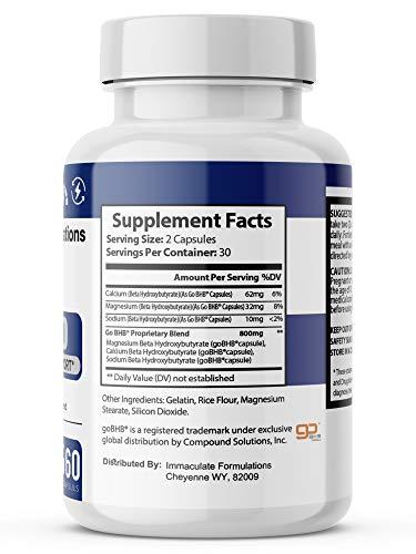 Pure Keto BHB 800mg Diet Pills - Advanced BHB Ketogenic Supplement Exogenous Ketones Ketosis for Men Women 120 Capsules 2 Bottles 2