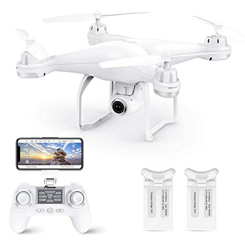 Potensic T25 GPS Drone, FPV RC Drone with Camera 1080P HD WiFi Live Video, Dual GPS Return Home, Quadcopter with Adjustable Wide-Angle Camera- Follow Me, Altitude Hold, Long Control Range, White